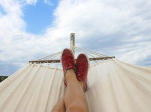 clear sky daydreaming hammock