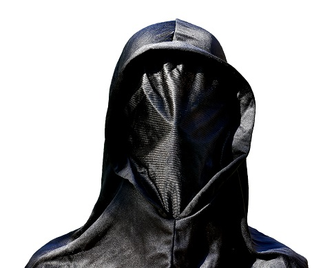 person in hooded mask
